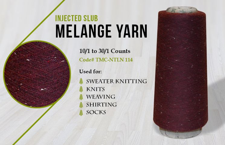 Injected Slub Melange Yarn TMC-NTLN 114